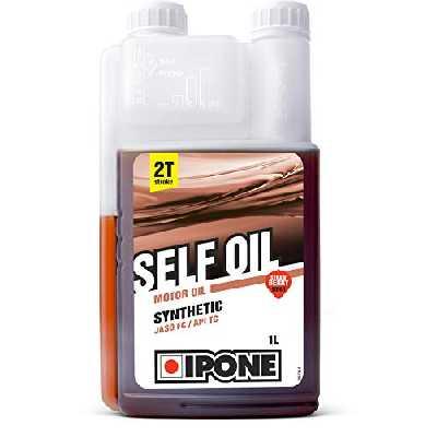 Ipone 800352 Huile Moteur Self Oil Jardinage-Bidon-doseur 1 Litre – Lubrifiant Semi Synthétique-pour Tous Les engins 2 Temps– Option Fraise